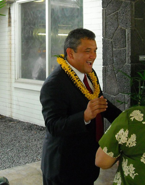 Mayor Kenoi Outside the Civic