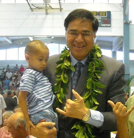 Oahu Mayor Mufi Hanneman and My Son