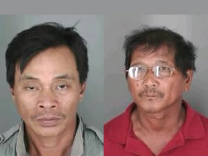 Saturnino Palting, 48, pictured on the right, and Nelson Domingo, 53, left, both of Kalihi
