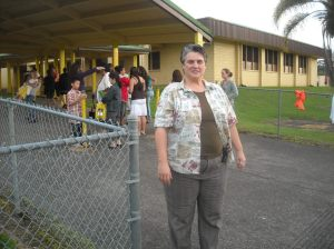Vice Principal, Catherine McPherson oversees the action
