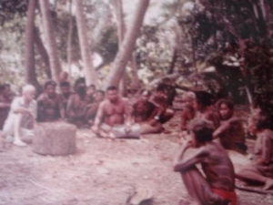 Grandpa at a Tribal Meeting in Yap back in the Sixties