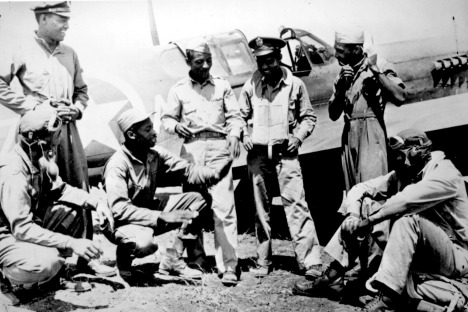 Members of the Tuskegee Airmen (Courtesy of Wikipedia)