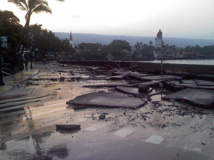 tsunami damage on hawaii the big island won�t impact most