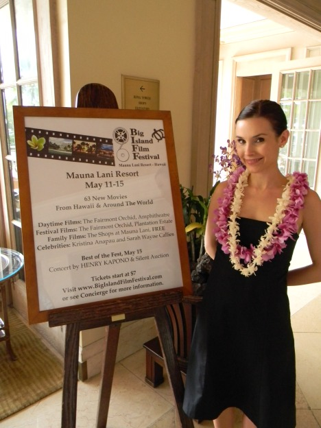 Kristina Anapau at the 2011 Big Island Film Festival