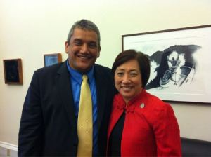 Mayor Billy Kenoi and Representative Colleen Hanabusa in Washington D.C. (Picture via yfrog)