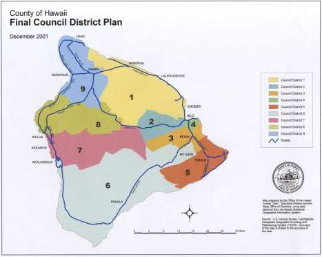 Hawaii County districts
