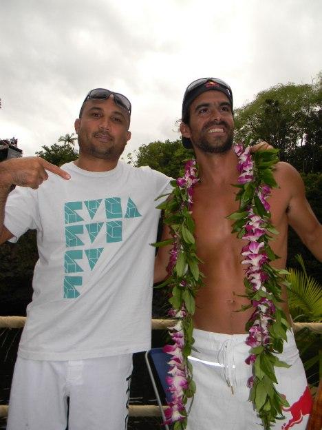 BJ Penn and RedBull Cliff Diver Orlando Duque