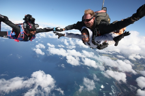 Setting a Hawaii Tandem Skydiving Altitude Record on December 10, 2011 at Skydive Hawaii