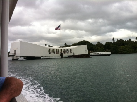 The US Navy provides a free ferry to and from the USS Arizona Memorial