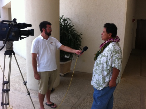 Big Island Video News interviewing Sam Choy at last years event.