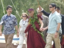 His Holiness at Kualoa Park 112