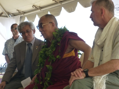 His Holiness at Kualoa Park 131
