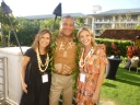 Huffington Post blogger Jennifer Grisanti, Big Island Mayor Billy Kenoi, and Actress Eloise Mumford (The River)