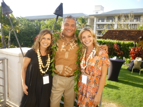 Huffington Post blogger Jennifer Grisanti, Big Island Mayor Billy Kenoi, and Actress Eloise Mumford (The River) at the 2012 Big Island Film Festival