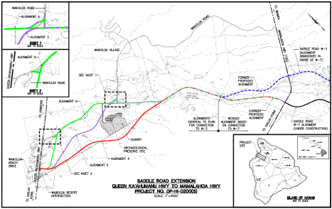Saddle Road Extension Map