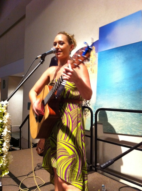 Anuhea playing at the Hawaii Conservation Conference