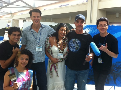 Muralist Wyland and others at the 2012 Conservation Conference