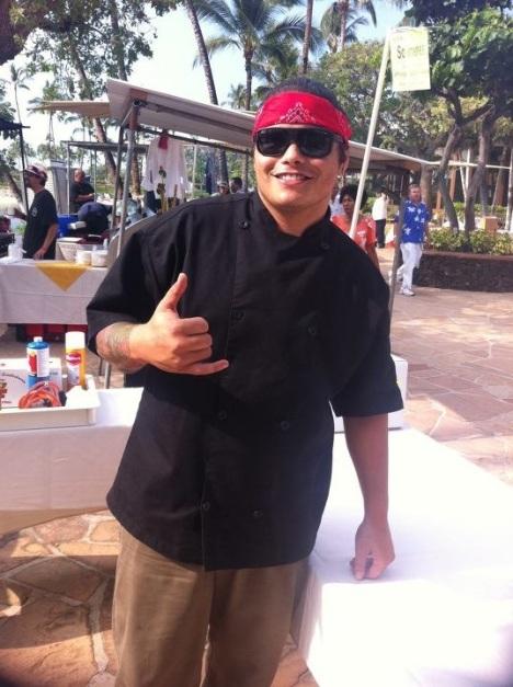 Chef Ippy Aiona at the 2012 Mealani Taste of the Hawaiian Range