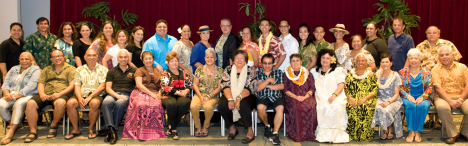 Kumu and Judges for the 50th Annual 2013 Merrie Monarch (Click for larger image)