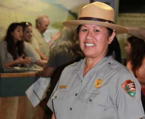 NPS Photo of Chief of Interpretation, Joni Mae Makuakāne-Jarrell, by Jay Robinson