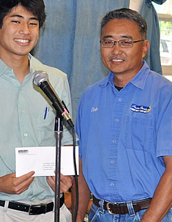 2012 Essay Contest Winner Brandt Mabuni from Makua Lani Christian School.