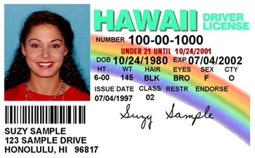 Sample Driving License