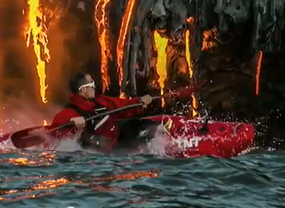 Kayaking in Lava