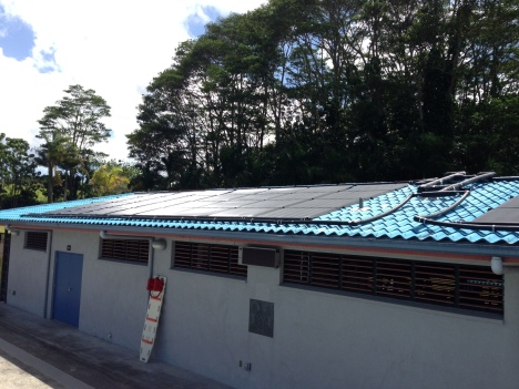 Solar Panels were recently placed on the Pahoa Community Aquatics Center