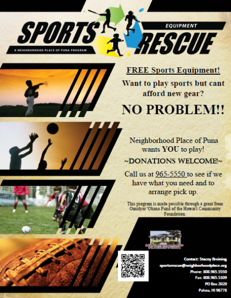 Free Sports Equipment