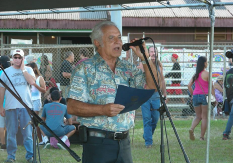 Gerald De Mello reads a proclamation from Gov. Abercrombie. Sarah Anderson Photography