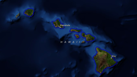 Hawaii Climate Change Map