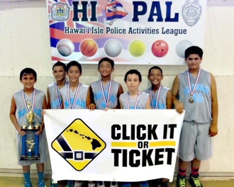 Click It or Ticket 12-and-under champions: Hawaii Warriors 6th Graders