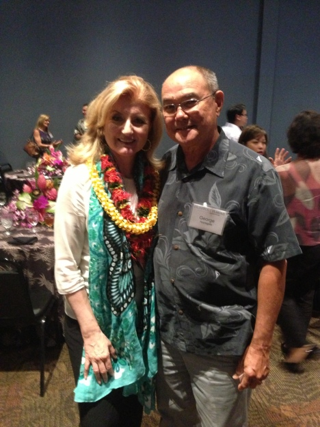Arianna Huffington and Former Executive Director of the Big Island Visitors Bureau George Applegate