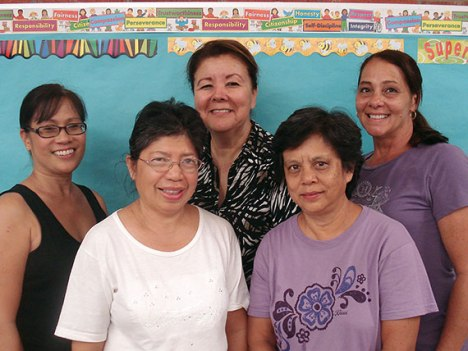 The 2013 DOE Team of the Year, the Kaala Food Services team, includes Arleen Asato, Derna Duarte, Pearla Kesolei, Kaiulani Kinoshita, Susie Lee and Georgette Ralar.