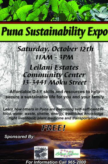 Puna Sustainabilty Expo