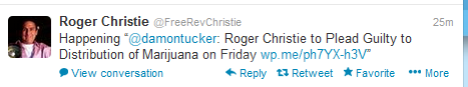 Roger Christie Guilty Tweet