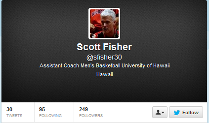 Scott Fisher's twitter page