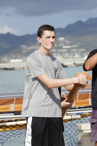 Colin takes the helm of the Hokulea