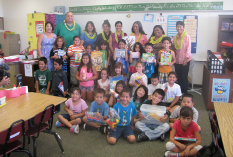 Ms. Leticia Gonsalves' 2nd grade class at Waiakeawaina Elementary School in Hilo
