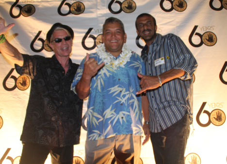 "Brad ""Tiki Shark"" Parker, Mayor Kenoi and Abbas Hassan"