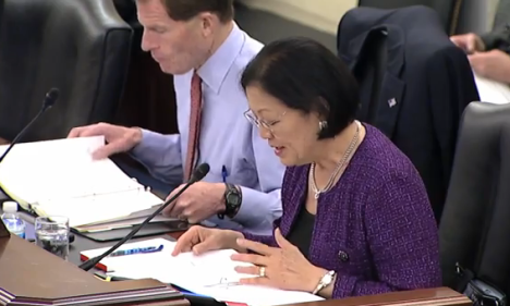 "Hirono spoke about the bill during today's Senate Committee on Veterans' Affairs hearing, bringing the issue of emergency care to the attention of VA officials. VA Principal Deputy Under Secretary for Health Dr. Robert Jesse noted to Hirono that the bill raised an ""important point"" and he would bring her concerns back to VA."