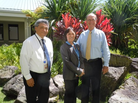2012 Award Winners: Judge Greg K. Nakamura (left), Prosecuting Attorney Charlene Y. Iboshi (center), and Andrew P. Wilson, Esq. (right)