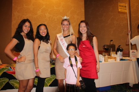 Miss Kona Coffee was on hand.