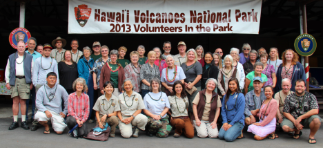The 2013 Volunteers of Hawai'i Volcanoes National Park were honored at a luncheon this week.  NPS Photo by Jay Robinson