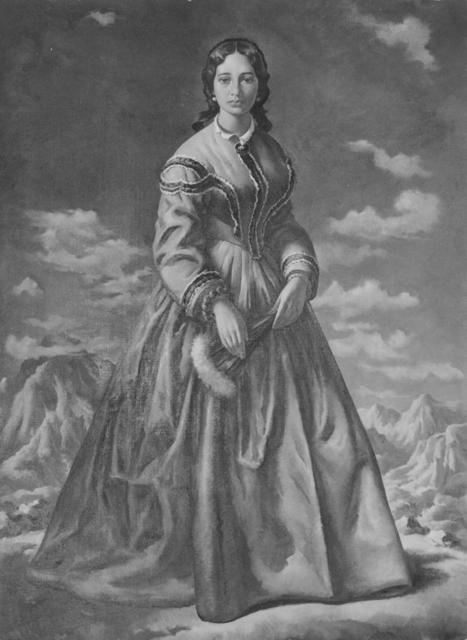 Painting of Bernice Pauahi Bishop (1831-1884).  (Hawaii State Archives)