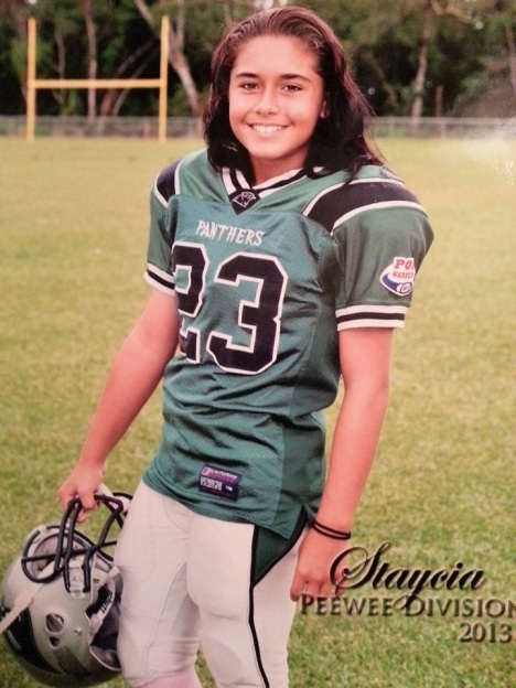 Staysia Hoomana of the Puna Panthers has qualified for the NFL Punt, Pass and Kick contest on the mainland.