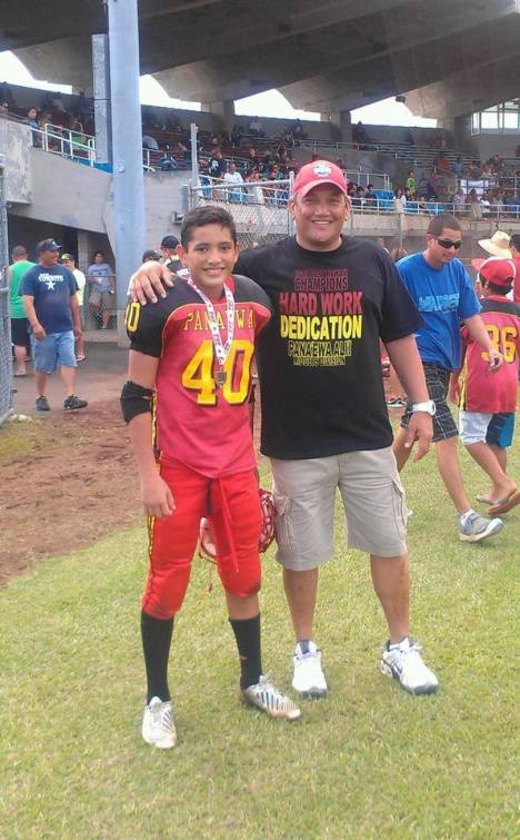 "Proud ""Dad Moment"" for Mayor Kenoi as his son will be playing for the Pop Warner Championships on the mainland."