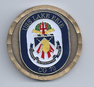 I got this coin a few weeks ago when I went on a tour of the USS Lake Erie