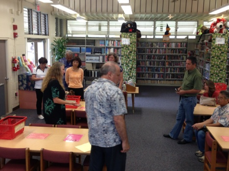 The Hawaii Senate Ways and Means Committee visited the Pahoa Community Library on August 21, 2013
